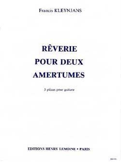 Reverie pour deux amertumes available at Guitar Notes.