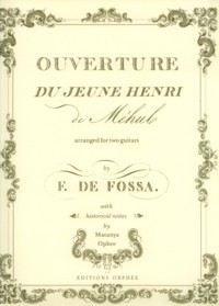 MEHUL: Ouverture du Jeune Henri(Fossa) available at Guitar Notes.