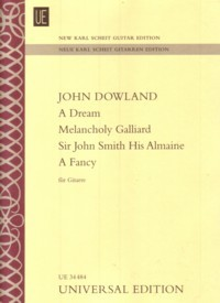 A Dream, Melancholy Galliard(New Karl Scheit Edition) available at Guitar Notes.