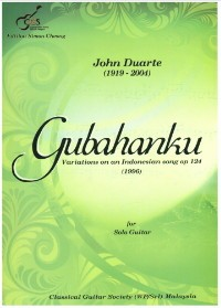 Gubahanku, variations op.124 available at Guitar Notes.