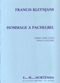 Hommage a Pachelbel, op.9 available at Guitar Notes.
