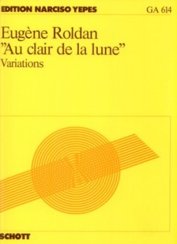 Au clair de la lune, variations(Yepes) available at Guitar Notes.