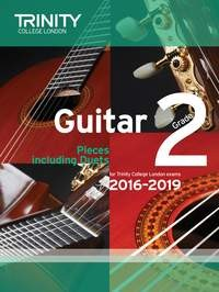 Guitar Exam Pieces Grade 2 2016-2019 available at Guitar Notes.