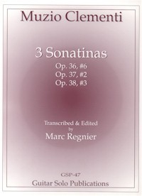 Three Sonatinas(Regnier) available at Guitar Notes.