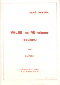 Valse in e minor (Dolinda) available at Guitar Notes.