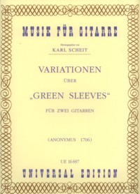 Variations on Greensleeves(Scheit) available at Guitar Notes.