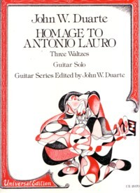Homage to Antonio Lauro, op.83 available at Guitar Notes.