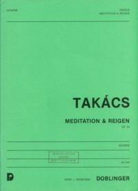 Meditation & Reigen op.64 available at Guitar Notes.
