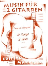 Milonga a deux, op.156 available at Guitar Notes.