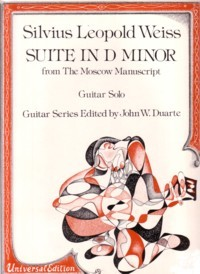 Suite in d minor from Moscow M/s(Duarte) available at Guitar Notes.