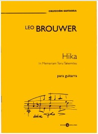 Hika, In Memoriam Takemitsu available at Guitar Notes.