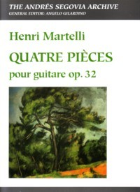 Quatre Pieces, op.32(Gilardino/Biscaldi) available at Guitar Notes.