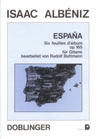 Espana,op.165(Buttman) available at Guitar Notes.