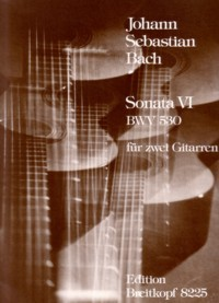 Sonata no.6, BWV530(Krause) available at Guitar Notes.