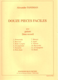 Douze Pieces Faciles, Vol.2 available at Guitar Notes.