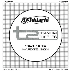 T2 Titanium Trebles/Hard Tension available at Guitar Notes.