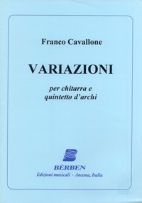 Variazioni [2Vn/Va/Vc/Db/Gtr] available at Guitar Notes.