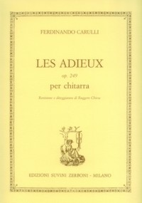 Les Adieux, op.249(Chiesa) available at Guitar Notes.