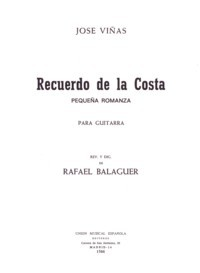 Recuerdo de la Costa(Balaguer) available at Guitar Notes.