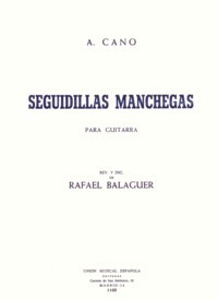 Seguidillas Manchegas (Balaguer) available at Guitar Notes.